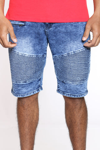 Men's Cut & Sow Moto Short - Blue
