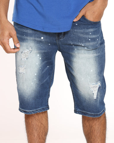 Men's Fred Ripped Blasting Short - Medium Blue