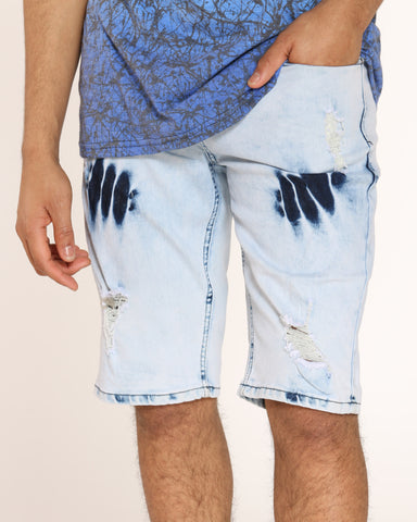 Men's Fred Ripped Blasting Short - Acid Blue
