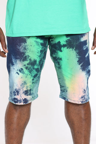 Men's Tie Dye Short - Blue
