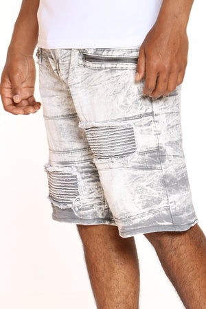 Men's Moto Zipped Short - Grey Acid-VIM.COM