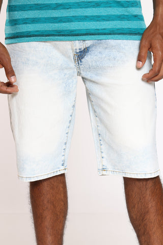 Men's Denim Short - White Sand-VIM.COM