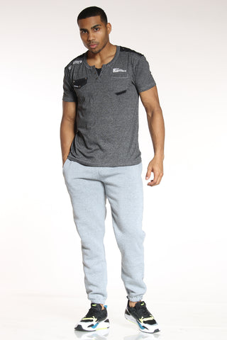 Men's Classic Fleece Jogger - Heather Grey-VIM.COM