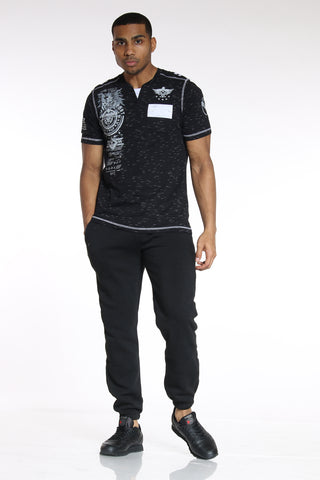Men's Classic Fleece Jogger - Black-VIM.COM