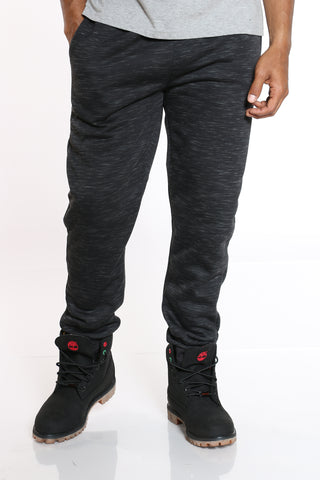 Men's Sherpa Lined Fleece Jogger - Black-VIM.COM