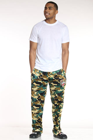 Men's Ed Hardy Camo Plush Pant - Green-VIM.COM