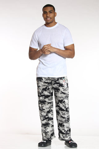 Men's Ed Hardy Camo Plush Pant - Grey-VIM.COM