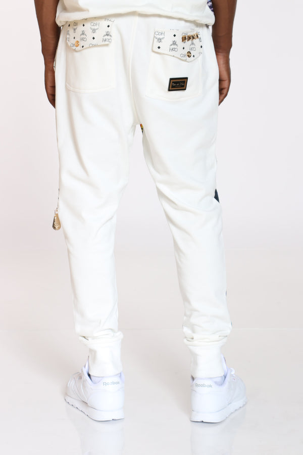 Men's Cut & Sow French Terry Jogger - White