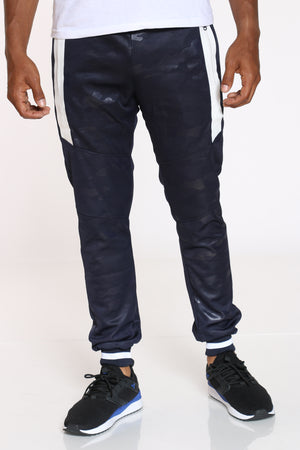 Men's Camo Side Zips Jogger - Navy-VIM.COM
