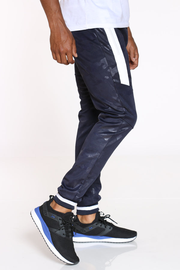 Men's Camo Side Zips Jogger - Navy