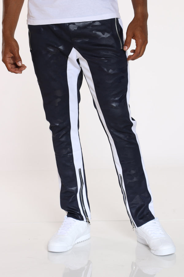 Men's Camo Interlock Pant - Navy-VIM.COM