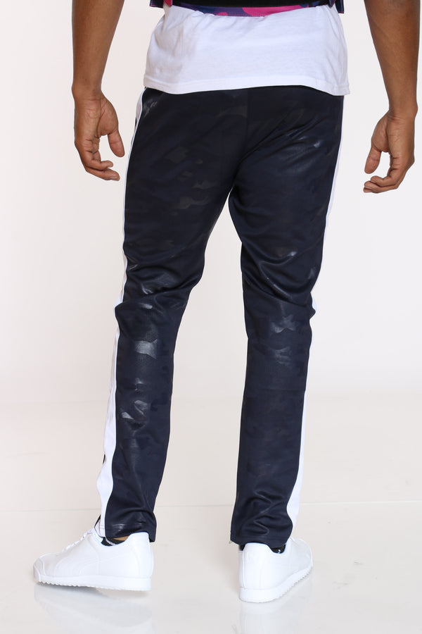 Men's Camo Interlock Pant - Navy