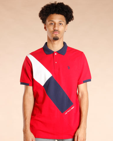Red Color Block Shirt