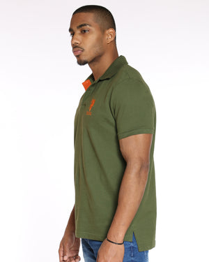 U.S. POLO ASSN. Us Polo Slim Fit Stripe Collar Tee - Riffle Green - Vim.com