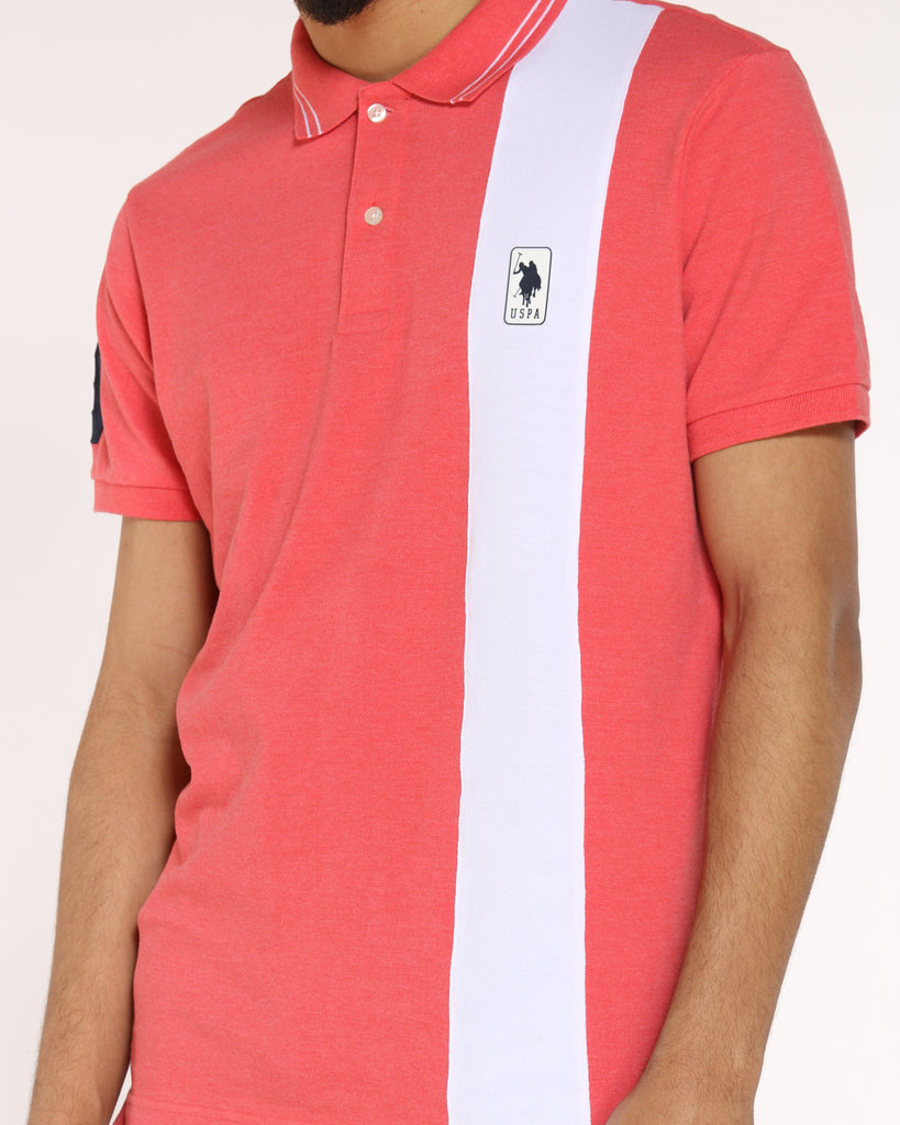 Patch Polo Collared Shirt - Coral Shell
