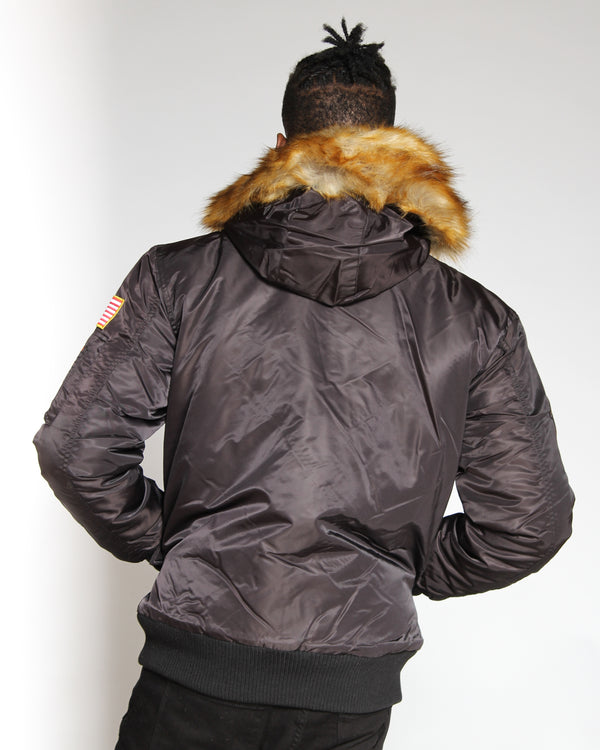 Men's Ma 1 Snorkel Patches Jacket - Black