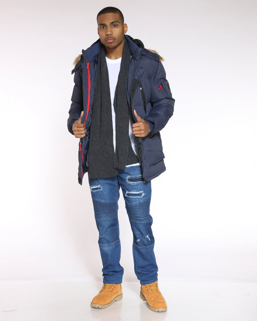 Heavy Down Bubble Jacket - Navy