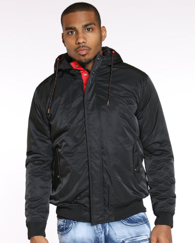 VIM Red Trim Mid Weight Jacket - Black - Vim.com