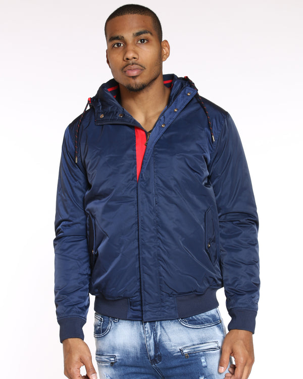 VIM Red Trim Mid Weight Jacket - Navy - Vim.com