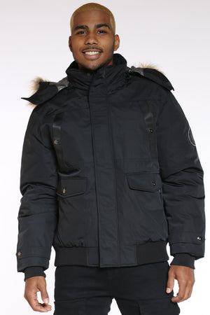 Men's Heavy Hood Jacket - Black-VIM.COM