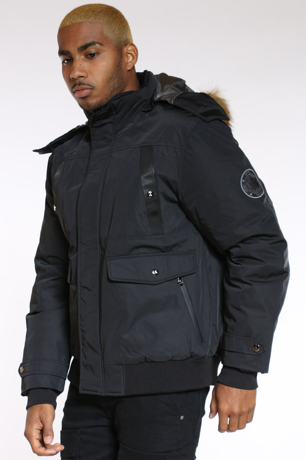 Men's Heavy Hood Jacket - Black