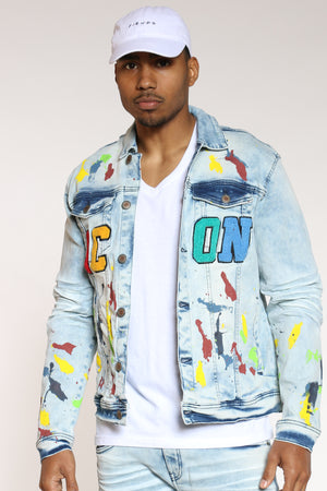 Men's Colorful Icon Denim Jacket - Denim-VIM.COM