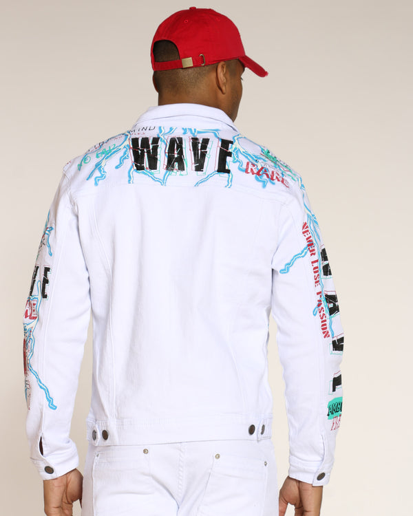 Men's Wave Lightning Jacket - White