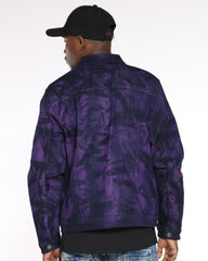 Rick Tie Dye Denim Jacket - Purple