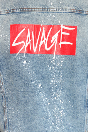 Men's Savage Box Paint Splatter Jacket - Blue