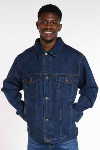 Men's Denim Jacket - Indigo-VIM.COM
