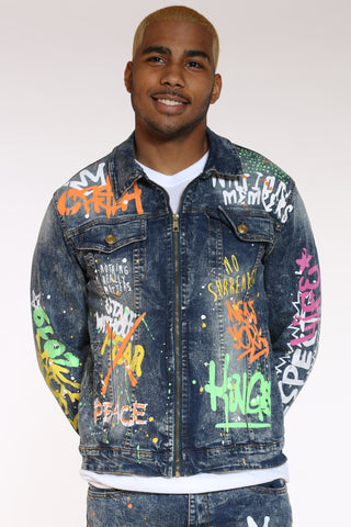 Men's Graffiti Jacket - Vintage-VIM.COM