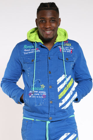 Men's Icon Royalty Hooded Jacket - Royal-VIM.COM