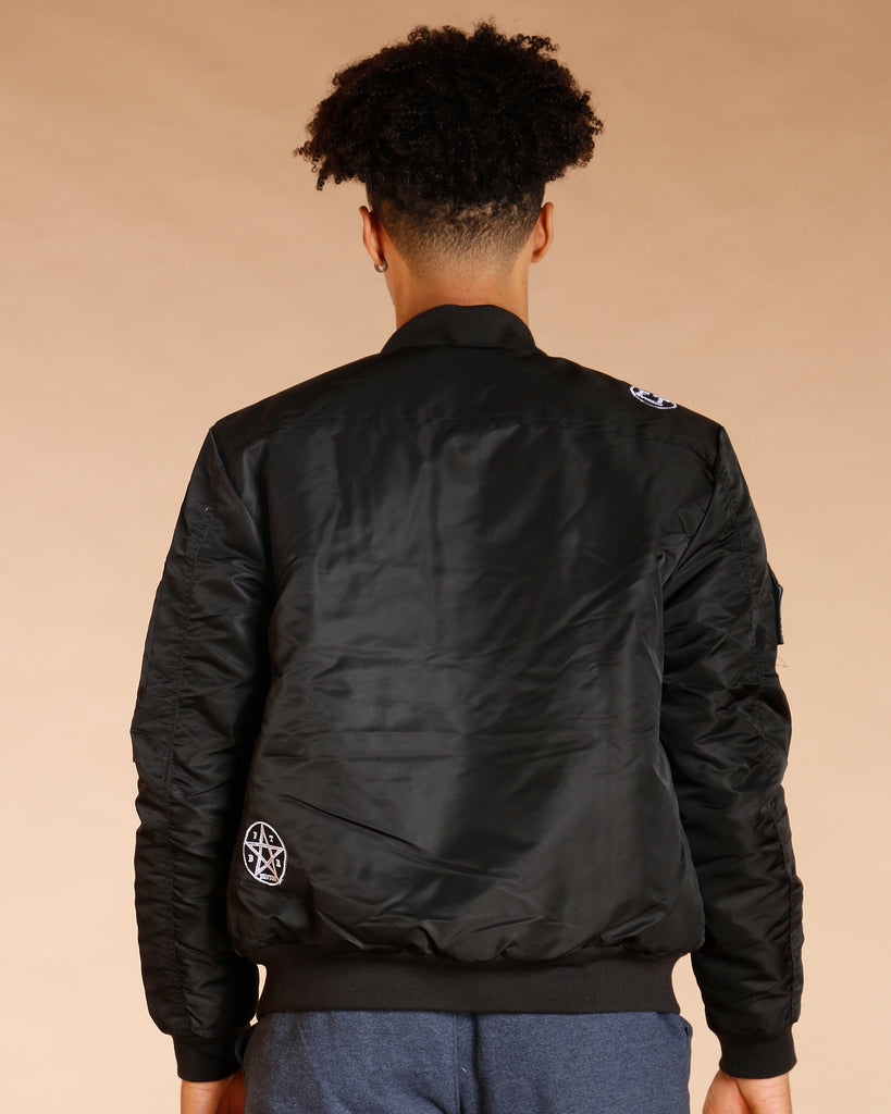 VIM Men'S Bomber Jacket With Patches And Zips - Vim.com