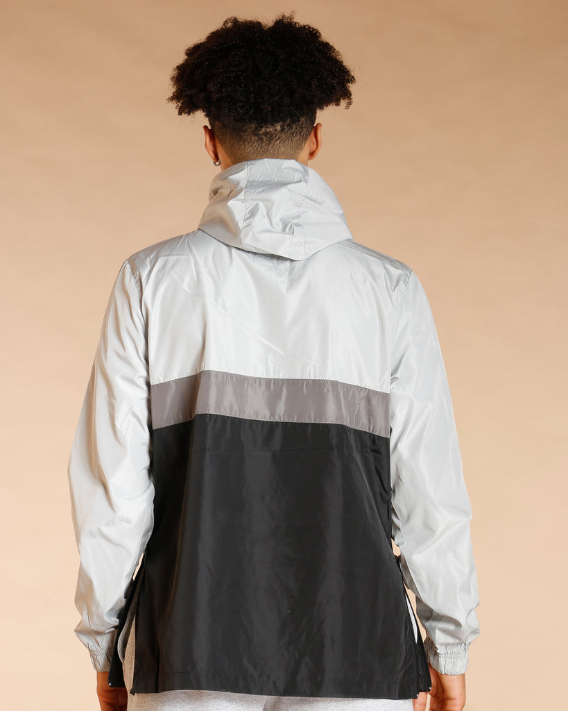 Color Block Windbreak Track Jacket -
