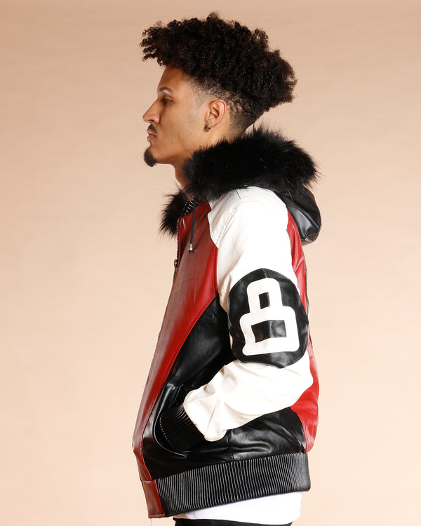 VIM 8 Ball Fur Hood Light Jacket - Black Red - Vim.com