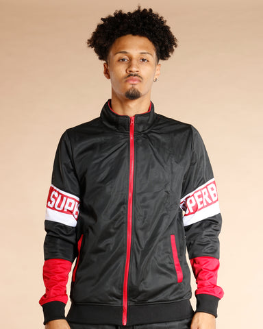 Men's Superb Taping Windbreaker Jacket - VIM - BLACK
