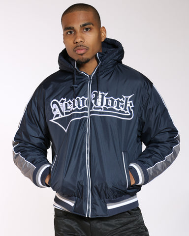 VIM New York Light Nylon Jacket - Navy - Vim.com