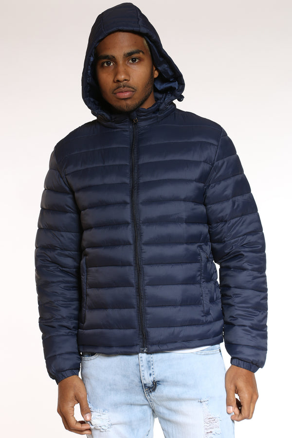 Men's Light Bubble Jacket - Navy-VIM.COM