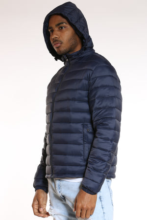 Men's Light Bubble Jacket - Navy