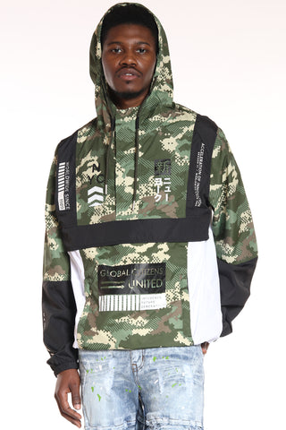 Men's Nyc Global Citizens Windbreaker Jacket - Camo-VIM.COM