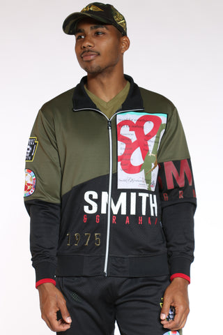Men's Smith Track Jacket - Olive-VIM.COM