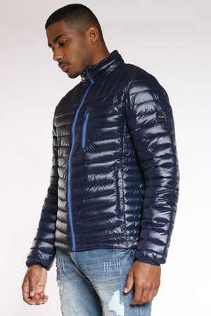 Men's Quilted Bubble Jacket - Navy