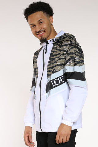 Men's Dope Windbreaker Jacket - White Camo-VIM.COM