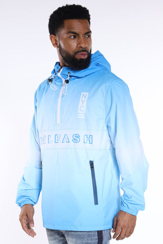 Fear No One Windbreaker Jacket - Light Blue-VIM.COM