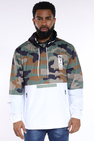 NYC Chief Of Staff Windbreaker Jacket - Camo-VIM.COM
