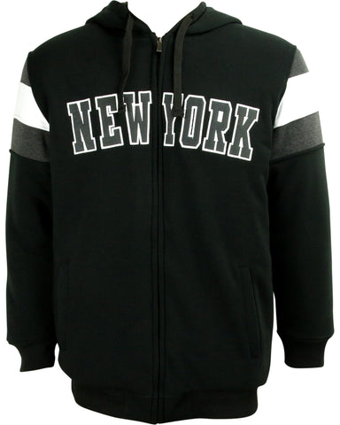 VIM Men'S New York Varsity Fleece Jacket - Vim.com