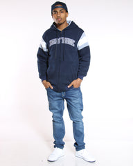 VIM New York Varsity Fleece Jacket - Navy White - Vim.com