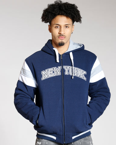 New York Full Zipper Quilted Jacket (Available In 4 Colors)