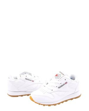 REEBOK Classic Leather Gum Sneakers (Toddler) - White - Vim.com