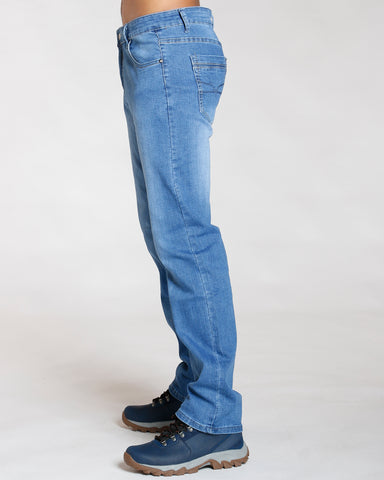 Slim Straight Embroidery Jeans
